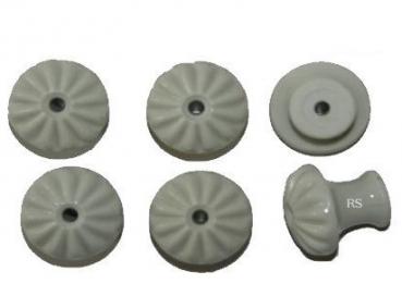 6 st ck porzellankn pfe 6006o ohne schrauben durchmesser 32mm gerillt restaurierungsshop. Black Bedroom Furniture Sets. Home Design Ideas