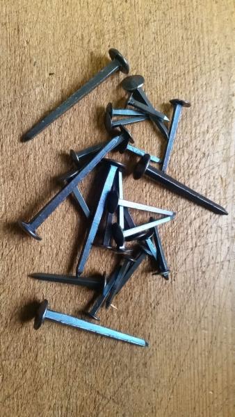 Eisennagel| Nagel aus Schmiedeeisen Ziernagel viereckiger Kopf 25 x 25 x 8mm Geschmiedete N/ägel Antikas
